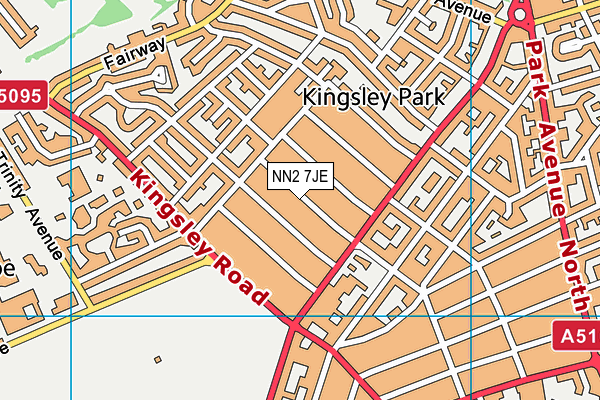 NN2 7JE map - OS VectorMap District (Ordnance Survey)