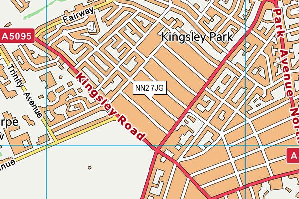 NN2 7JG map - OS VectorMap District (Ordnance Survey)