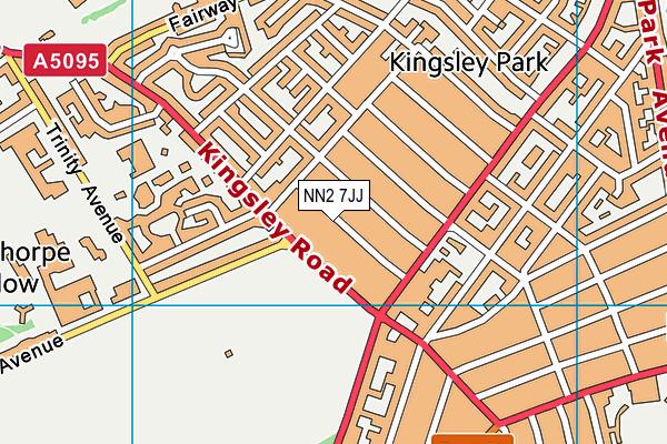 NN2 7JJ map - OS VectorMap District (Ordnance Survey)