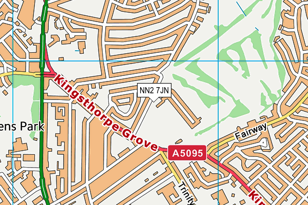 NN2 7JN map - OS VectorMap District (Ordnance Survey)