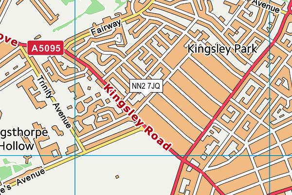 NN2 7JQ map - OS VectorMap District (Ordnance Survey)