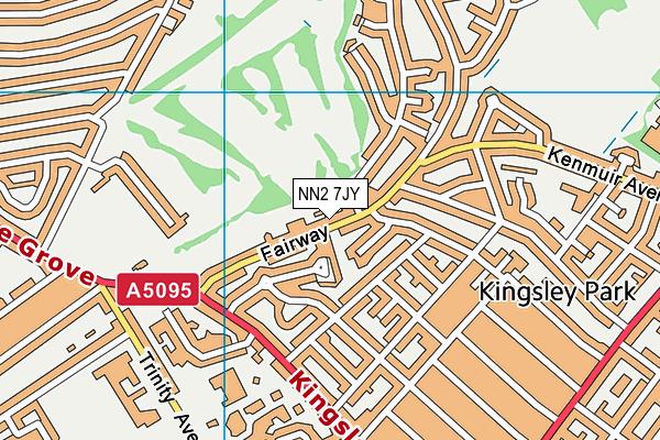 NN2 7JY map - OS VectorMap District (Ordnance Survey)