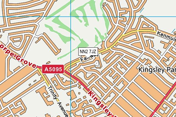 NN2 7JZ map - OS VectorMap District (Ordnance Survey)
