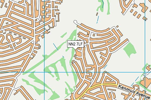 NN2 7LF map - OS VectorMap District (Ordnance Survey)