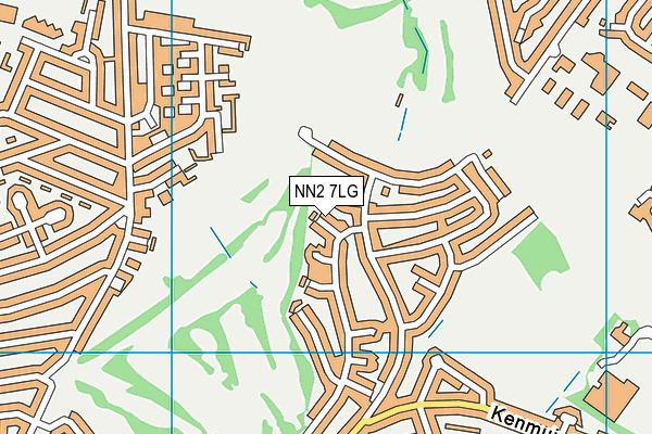 NN2 7LG map - OS VectorMap District (Ordnance Survey)