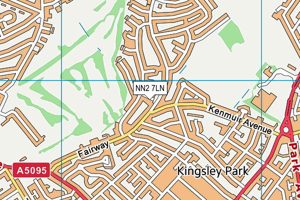NN2 7LN map - OS VectorMap District (Ordnance Survey)