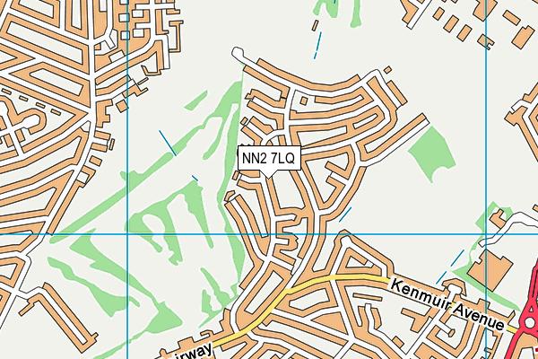 NN2 7LQ map - OS VectorMap District (Ordnance Survey)