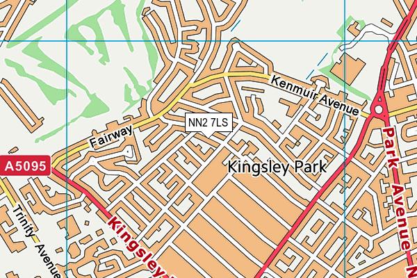 NN2 7LS map - OS VectorMap District (Ordnance Survey)