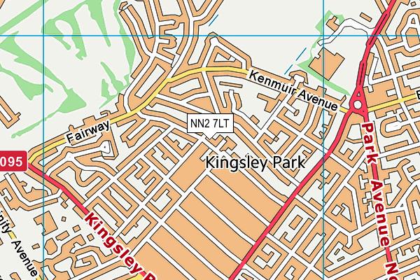 NN2 7LT map - OS VectorMap District (Ordnance Survey)