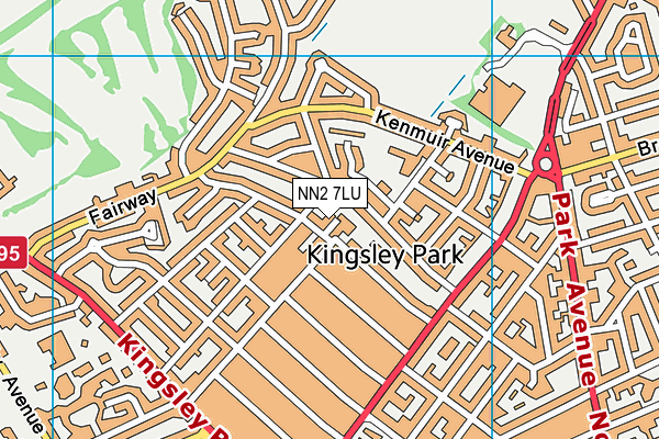 NN2 7LU map - OS VectorMap District (Ordnance Survey)
