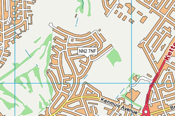 NN2 7NF map - OS VectorMap District (Ordnance Survey)