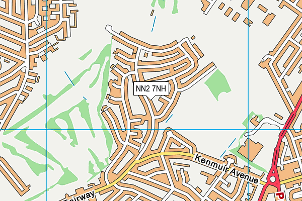 NN2 7NH map - OS VectorMap District (Ordnance Survey)