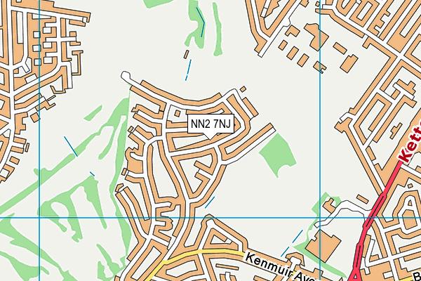 NN2 7NJ map - OS VectorMap District (Ordnance Survey)