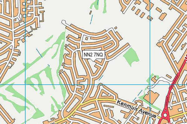 NN2 7NQ map - OS VectorMap District (Ordnance Survey)