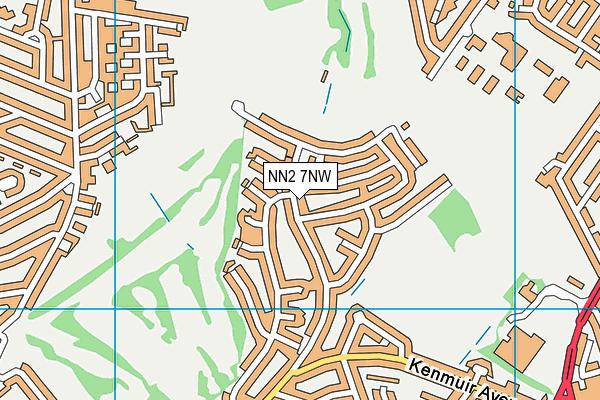 NN2 7NW map - OS VectorMap District (Ordnance Survey)