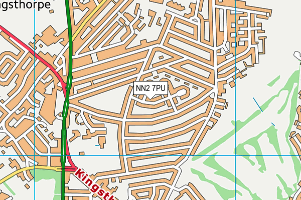 NN2 7PU map - OS VectorMap District (Ordnance Survey)