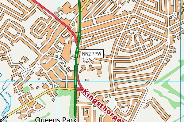 NN2 7PW map - OS VectorMap District (Ordnance Survey)