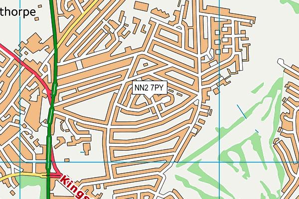 NN2 7PY map - OS VectorMap District (Ordnance Survey)