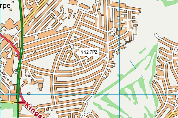 NN2 7PZ map - OS VectorMap District (Ordnance Survey)