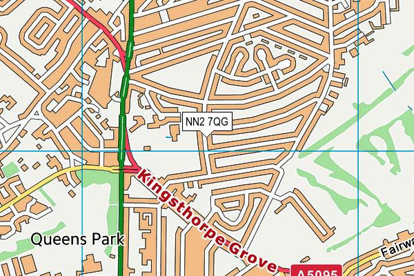 NN2 7QG map - OS VectorMap District (Ordnance Survey)