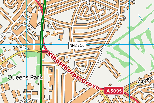 NN2 7QJ map - OS VectorMap District (Ordnance Survey)