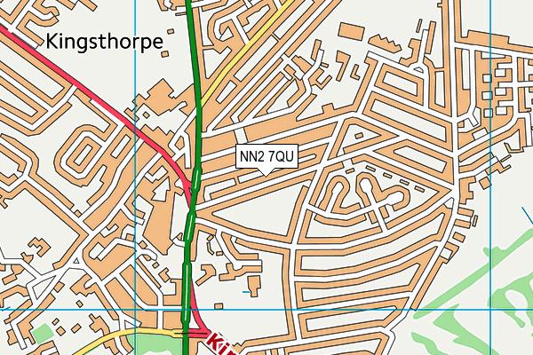 NN2 7QU map - OS VectorMap District (Ordnance Survey)