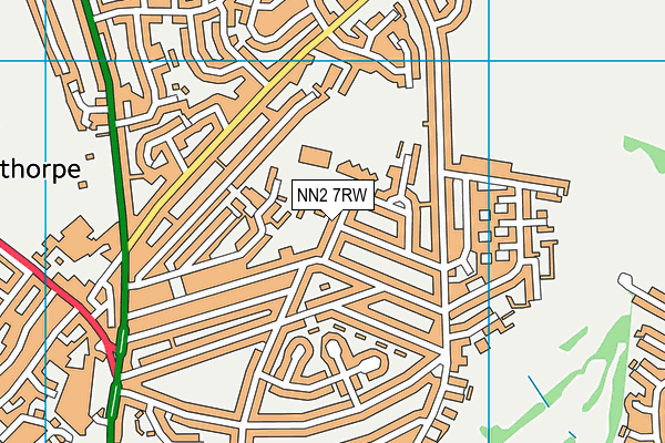 NN2 7RW map - OS VectorMap District (Ordnance Survey)