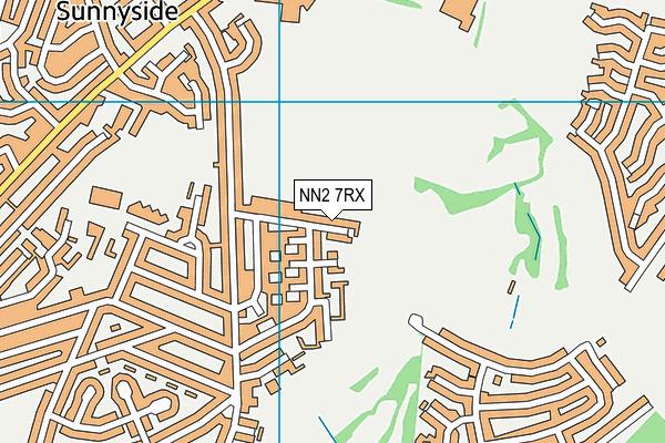 NN2 7RX map - OS VectorMap District (Ordnance Survey)
