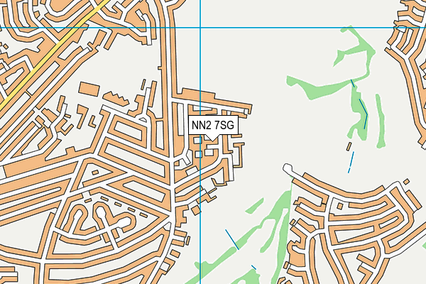 NN2 7SG map - OS VectorMap District (Ordnance Survey)