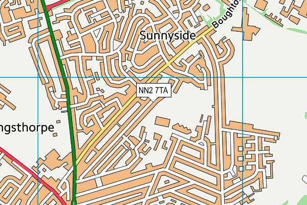 NN2 7TA map - OS VectorMap District (Ordnance Survey)