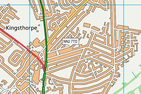 NN2 7TD map - OS VectorMap District (Ordnance Survey)