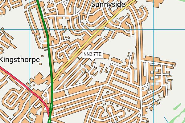 NN2 7TE map - OS VectorMap District (Ordnance Survey)