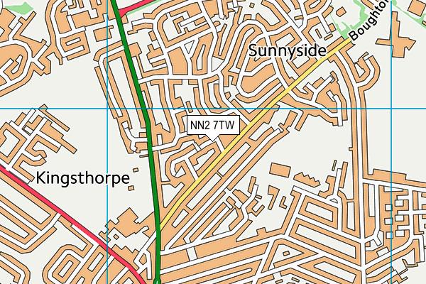 NN2 7TW map - OS VectorMap District (Ordnance Survey)
