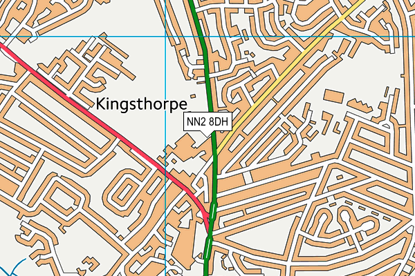 Kingsthorpe Recreation Ground map (NN2 8DH) - OS VectorMap District (Ordnance Survey)