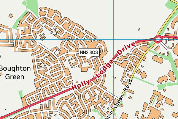 Sunnyside Primary Academy map (NN2 8QS) - OS VectorMap District (Ordnance Survey)