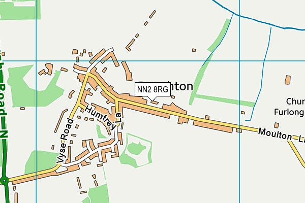 Boughton Primary School map (NN2 8RG) - OS VectorMap District (Ordnance Survey)