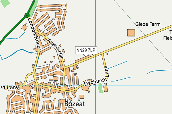 Bozeat Community Primary School map (NN29 7LP) - OS VectorMap District (Ordnance Survey)