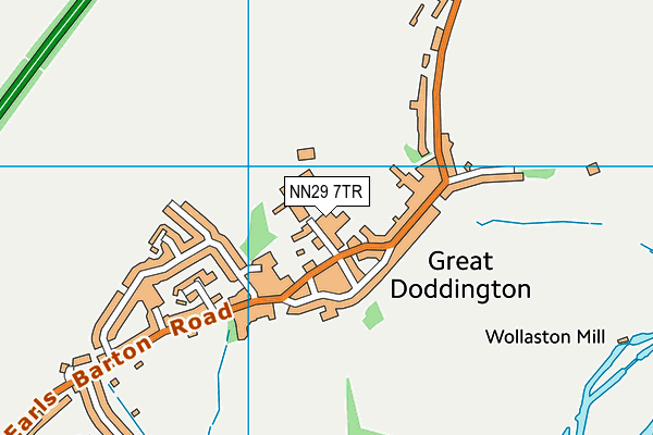 Great Doddington Primary map (NN29 7TR) - OS VectorMap District (Ordnance Survey)