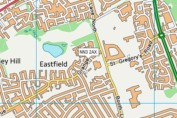 St Gregory's Catholic Primary School map (NN3 2AX) - OS VectorMap District (Ordnance Survey)