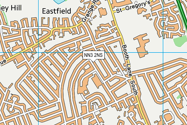 Headlands Primary School map (NN3 2NS) - OS VectorMap District (Ordnance Survey)