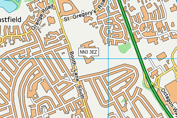 Weston Favell Academy map (NN3 3EZ) - OS VectorMap District (Ordnance Survey)