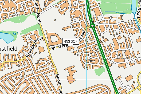 The Arbours Primary Academy map (NN3 3QF) - OS VectorMap District (Ordnance Survey)