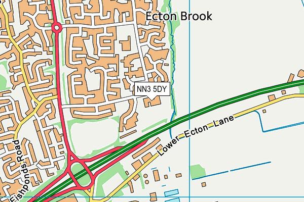 Ecton Brook Primary School map (NN3 5DY) - OS VectorMap District (Ordnance Survey)
