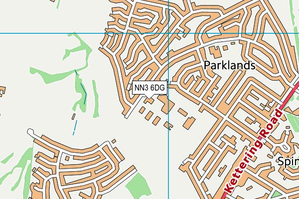 The Northampton School For Girls map (NN3 6DG) - OS VectorMap District (Ordnance Survey)