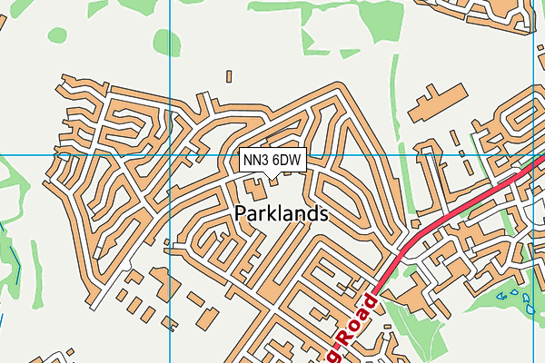NN3 6DW map - OS VectorMap District (Ordnance Survey)