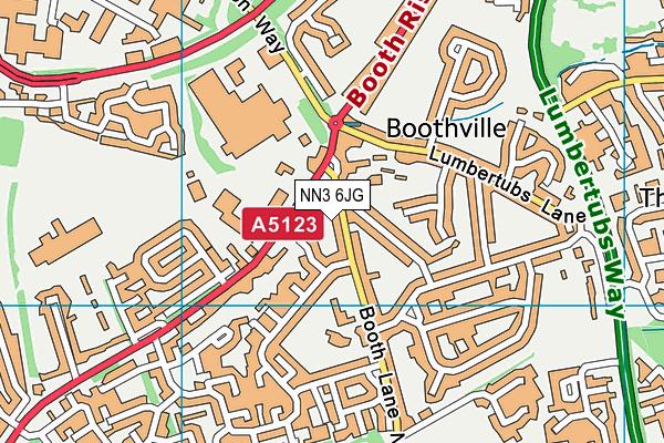Boothville Primary School map (NN3 6JG) - OS VectorMap District (Ordnance Survey)