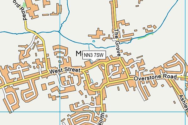 Moulton Primary School map (NN3 7SW) - OS VectorMap District (Ordnance Survey)