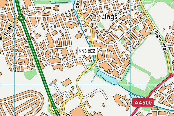 Billing Brook Special School map (NN3 8EZ) - OS VectorMap District (Ordnance Survey)