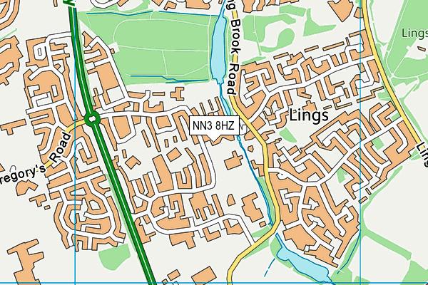 Lumbertubs Primary School map (NN3 8HZ) - OS VectorMap District (Ordnance Survey)