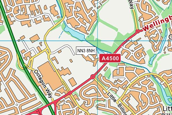 Northampton Academy map (NN3 8NH) - OS VectorMap District (Ordnance Survey)